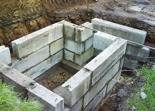 Погреб из блоков