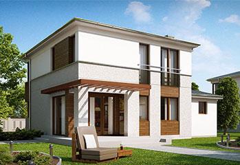 Проект двухэтажного дома 85 кв.м.