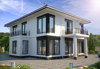 Построить недорогой двухэтажный дом