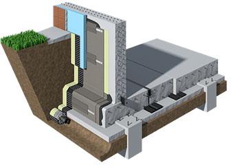 Выполнение гидроизоляции фундамента